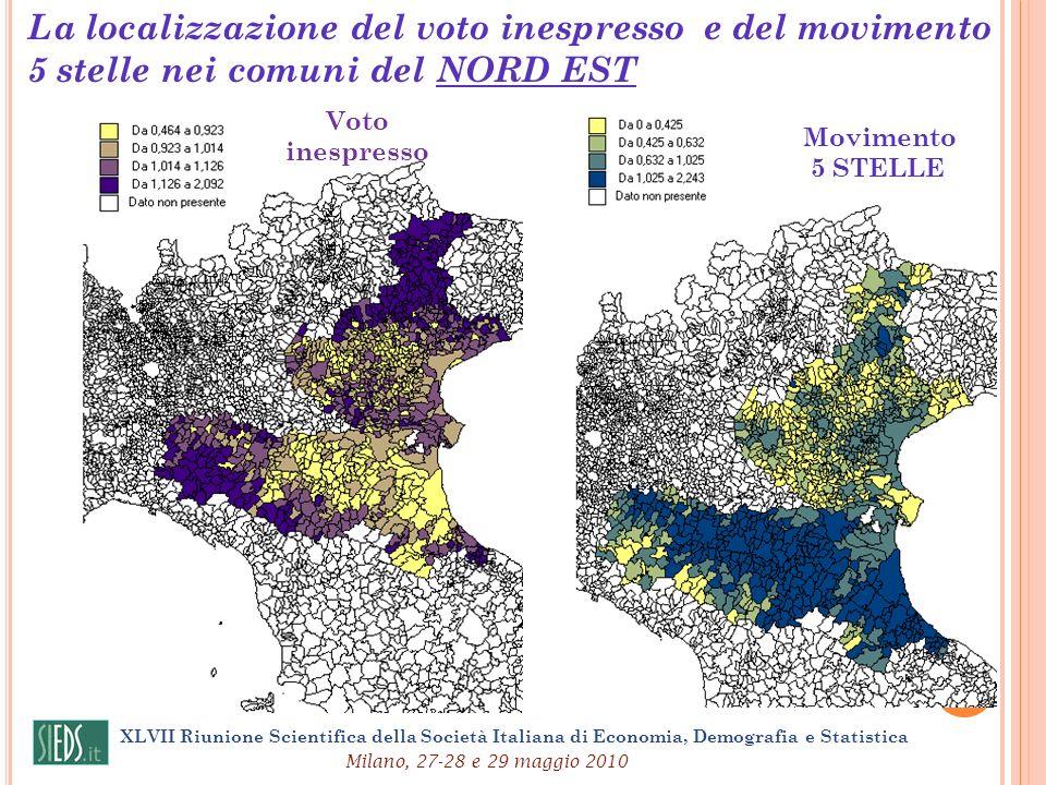 La localizzazione del voto inespresso e del movimento