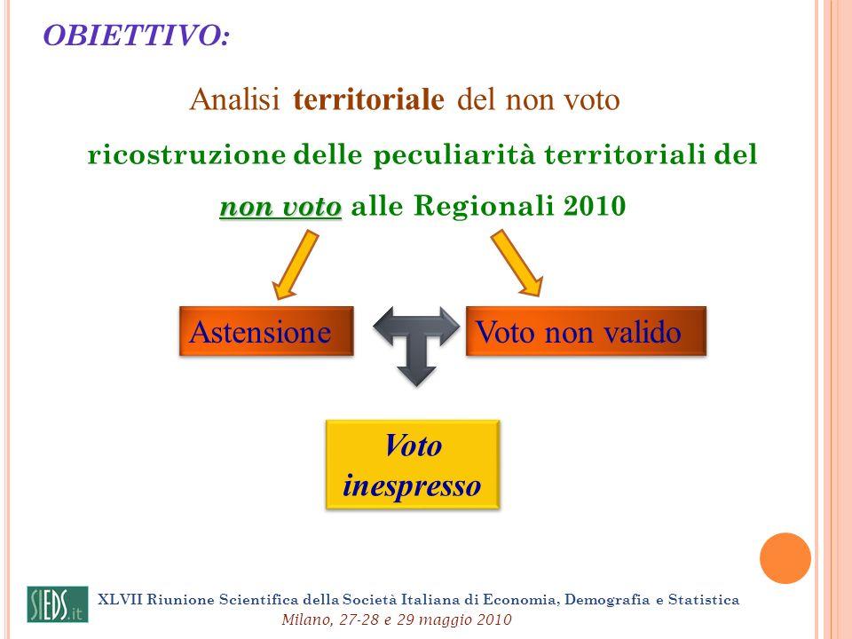 Analisi territoriale del non voto