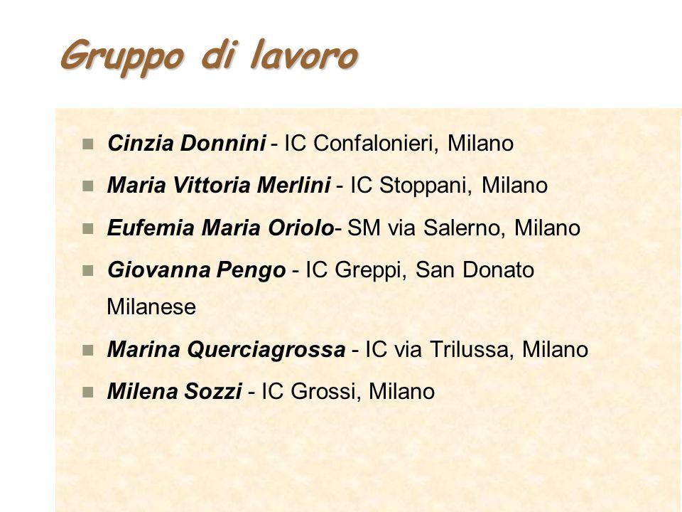 Gruppo di lavoro Cinzia Donnini - IC Confalonieri, Milano