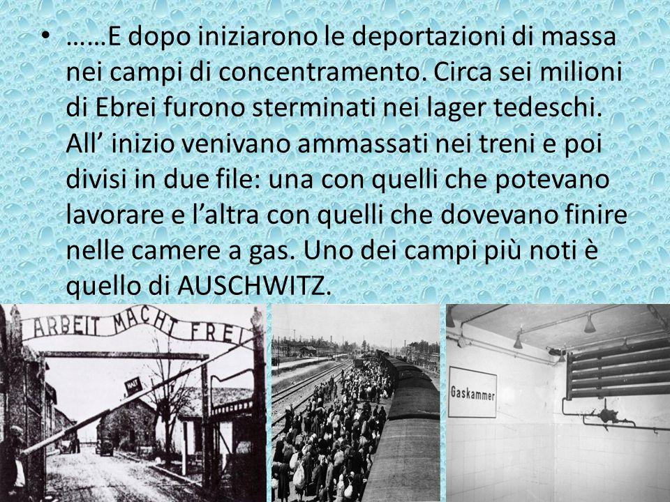 ……E dopo iniziarono le deportazioni di massa nei campi di concentramento.