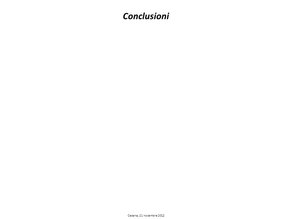 Conclusioni Cesena, 21 novembre 2012