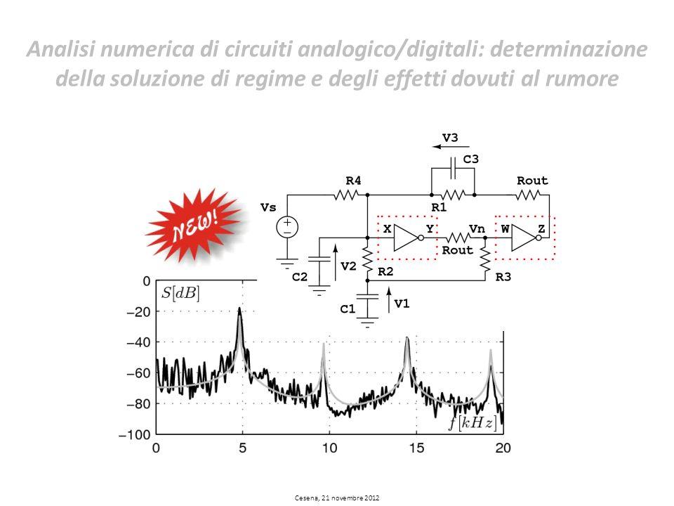 Analisi numerica di circuiti analogico/digitali: determinazione della soluzione di regime e degli effetti dovuti al rumore
