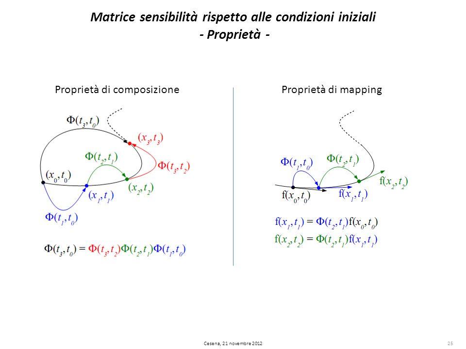 Matrice sensibilità rispetto alle condizioni iniziali - Proprietà -