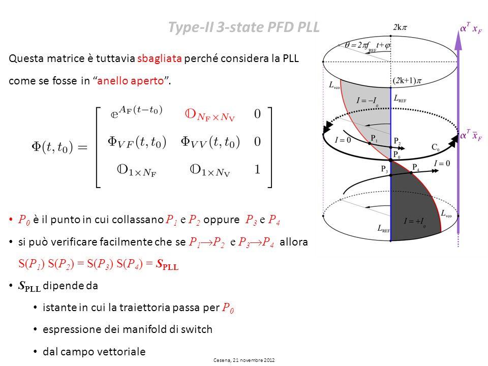 Type-II 3-state PFD PLL Questa matrice è tuttavia sbagliata perché considera la PLL come se fosse in anello aperto .