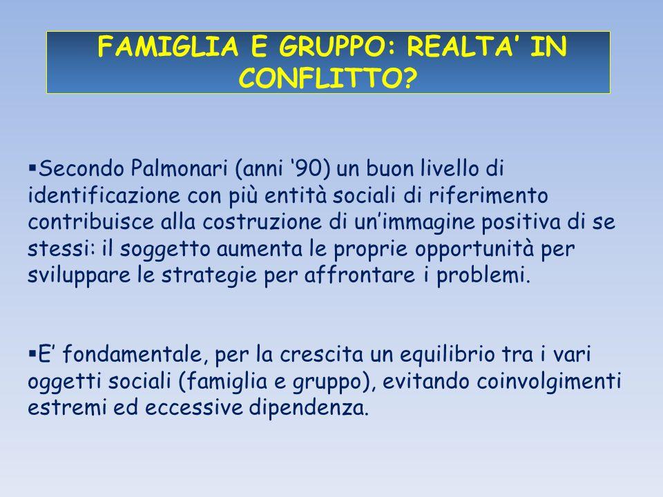 FAMIGLIA E GRUPPO: REALTA' IN CONFLITTO