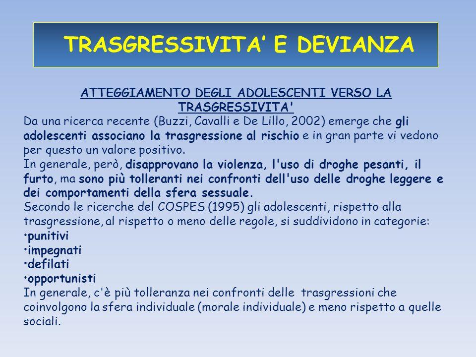 TRASGRESSIVITA' E DEVIANZA