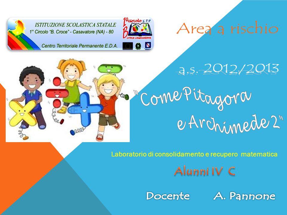 Area a rischio a.s. 2012/2013 Alunni IV C Come Pitagora