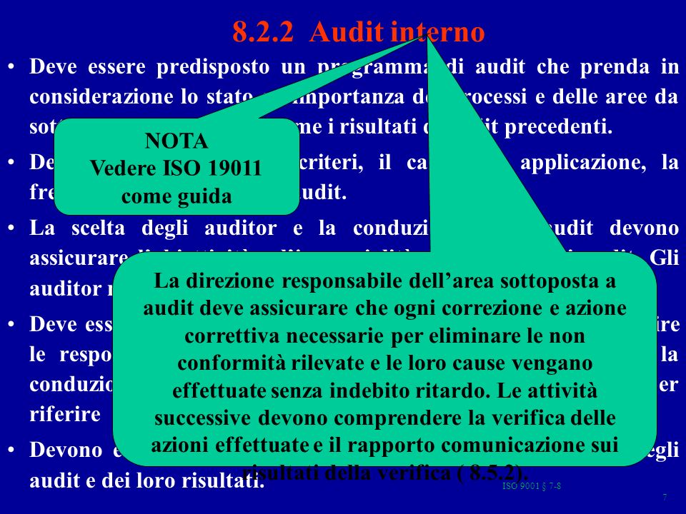 8.2.2 Audit interno