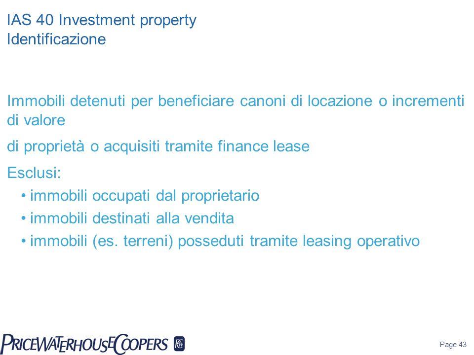 IAS 40 Investment property Identificazione