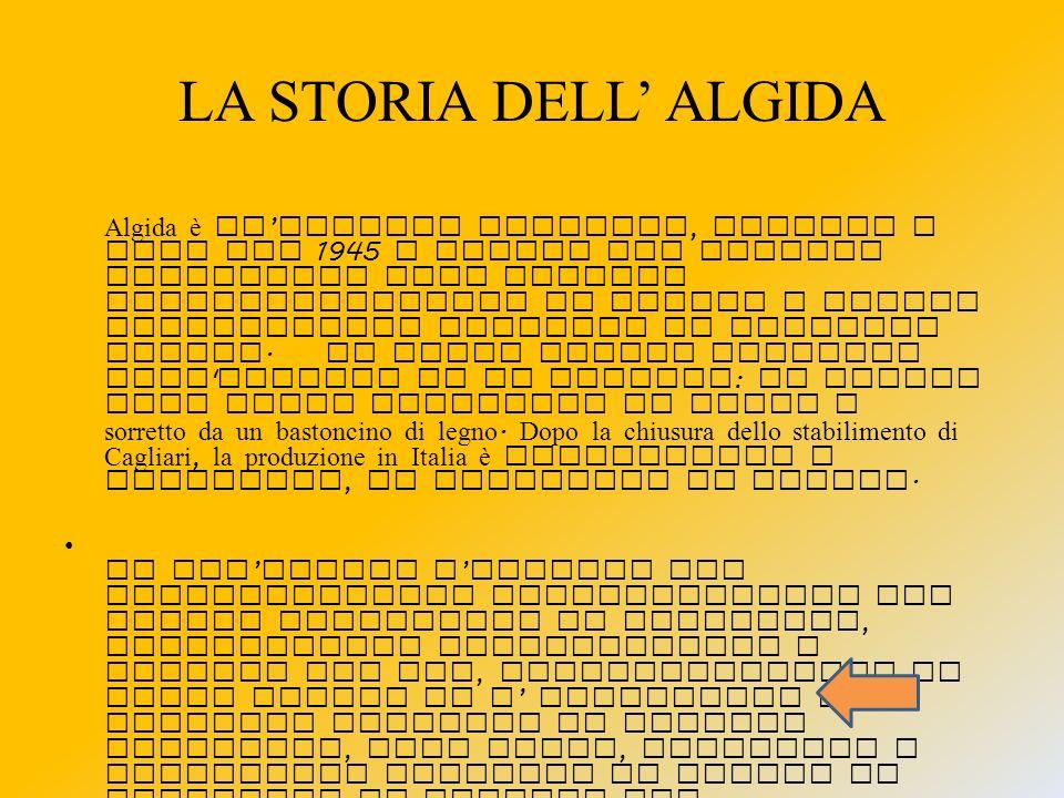 LA STORIA DELL' ALGIDA
