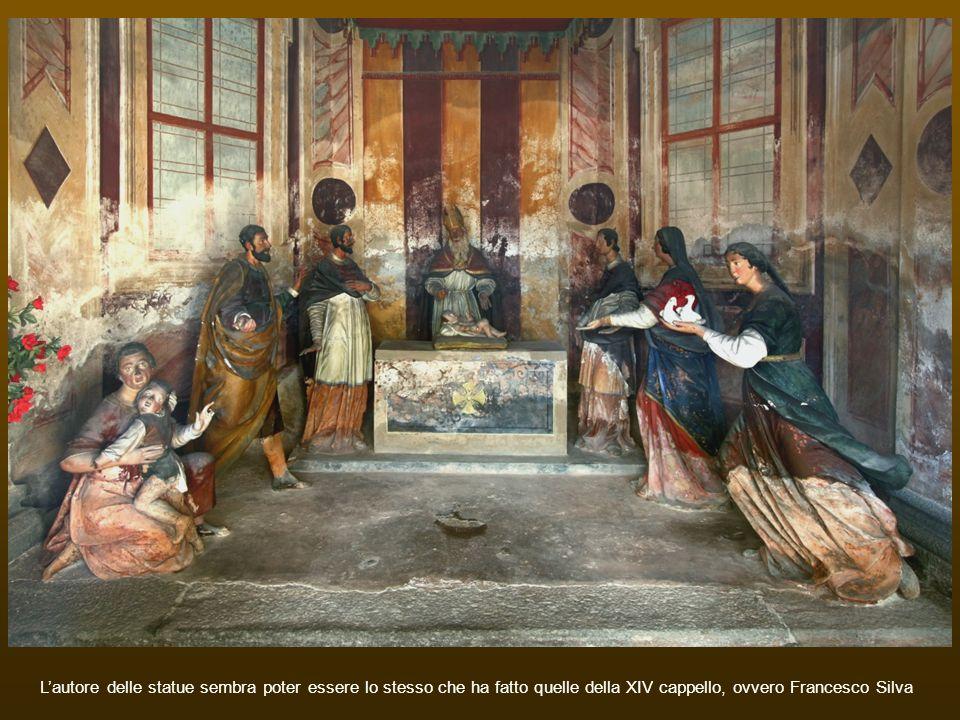L'autore delle statue sembra poter essere lo stesso che ha fatto quelle della XIV cappello, ovvero Francesco Silva