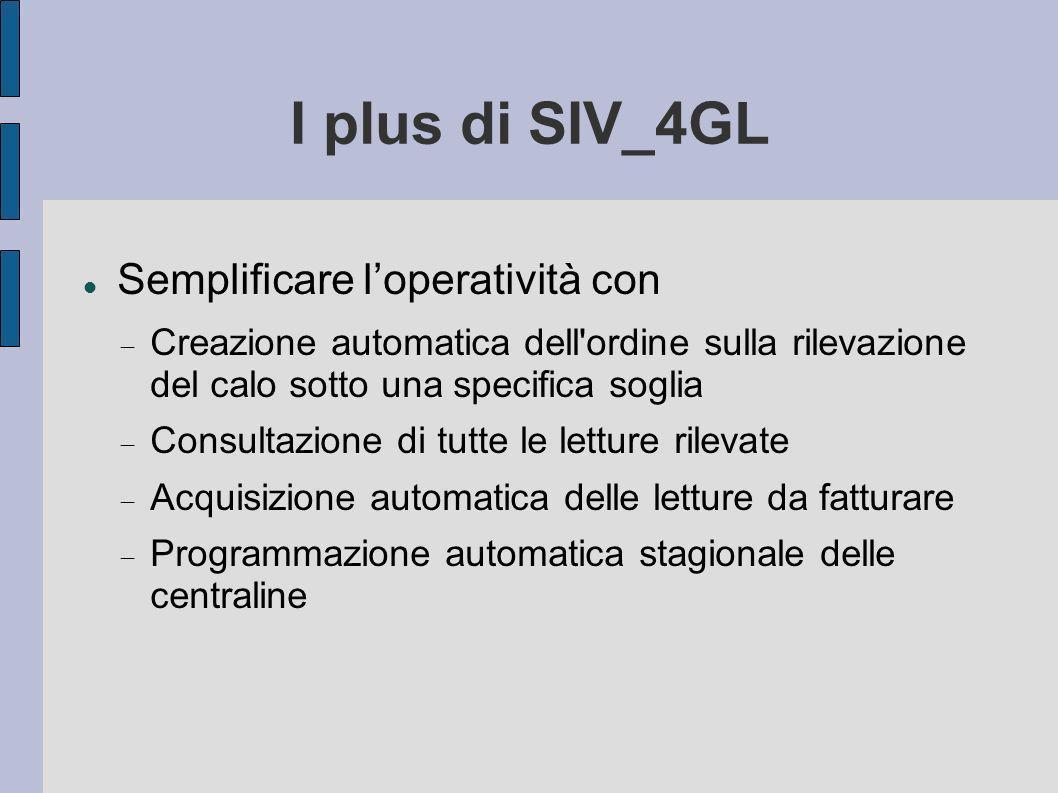 I plus di SIV_4GL Semplificare l'operatività con