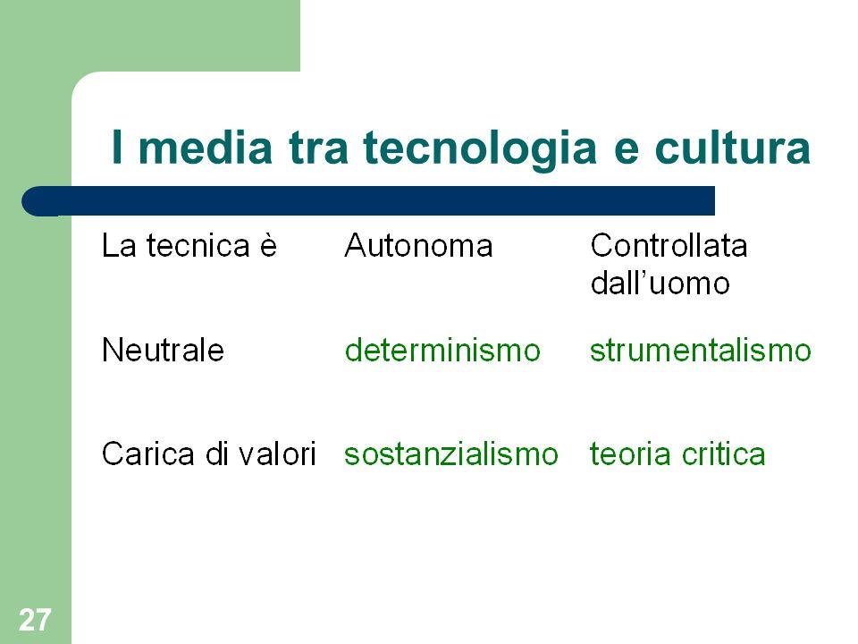 I media tra tecnologia e cultura