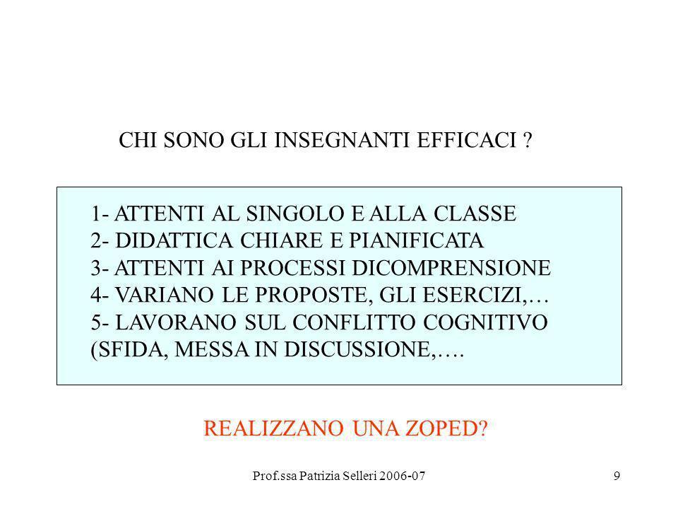 Prof.ssa Patrizia Selleri 2006-07