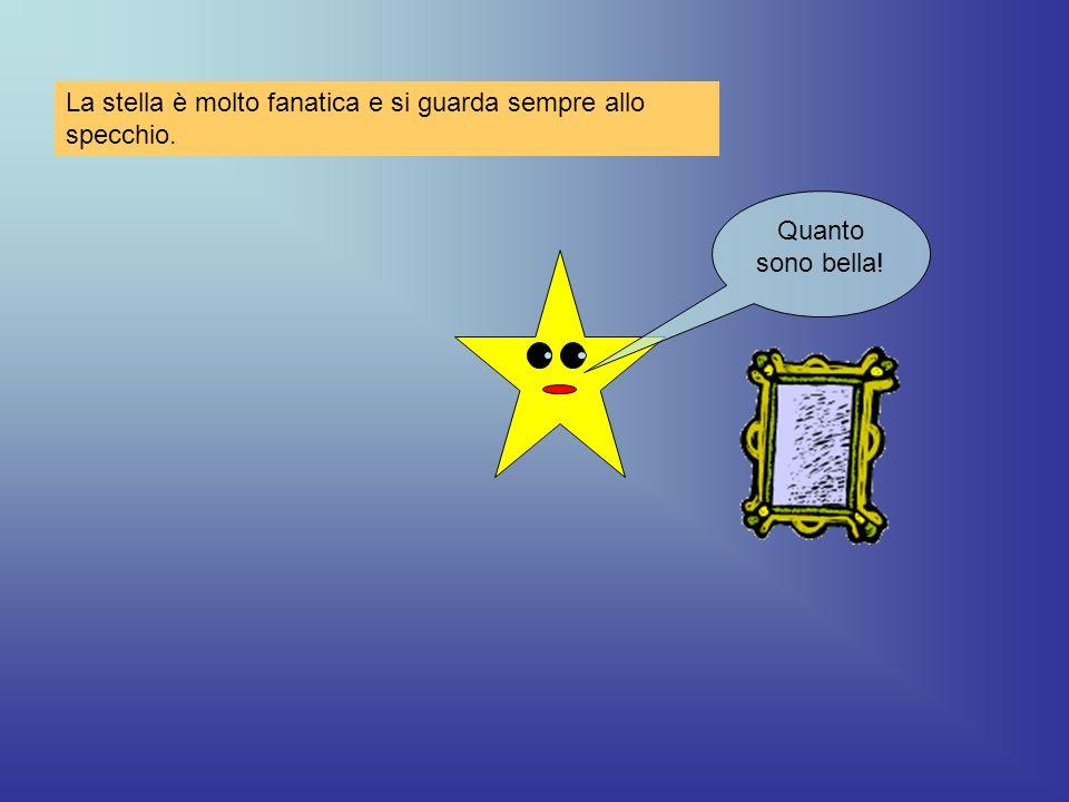 La stella è molto fanatica e si guarda sempre allo specchio.