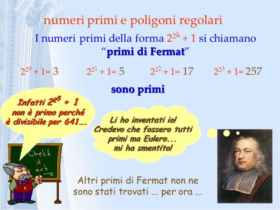 numeri primi e poligoni regolari