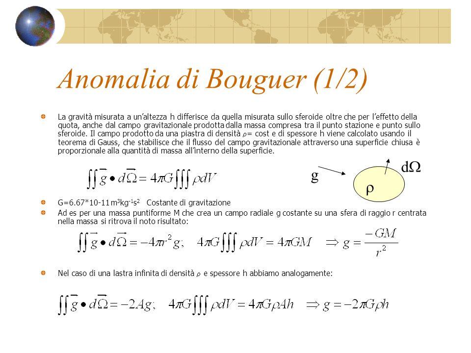 Anomalia di Bouguer (1/2)