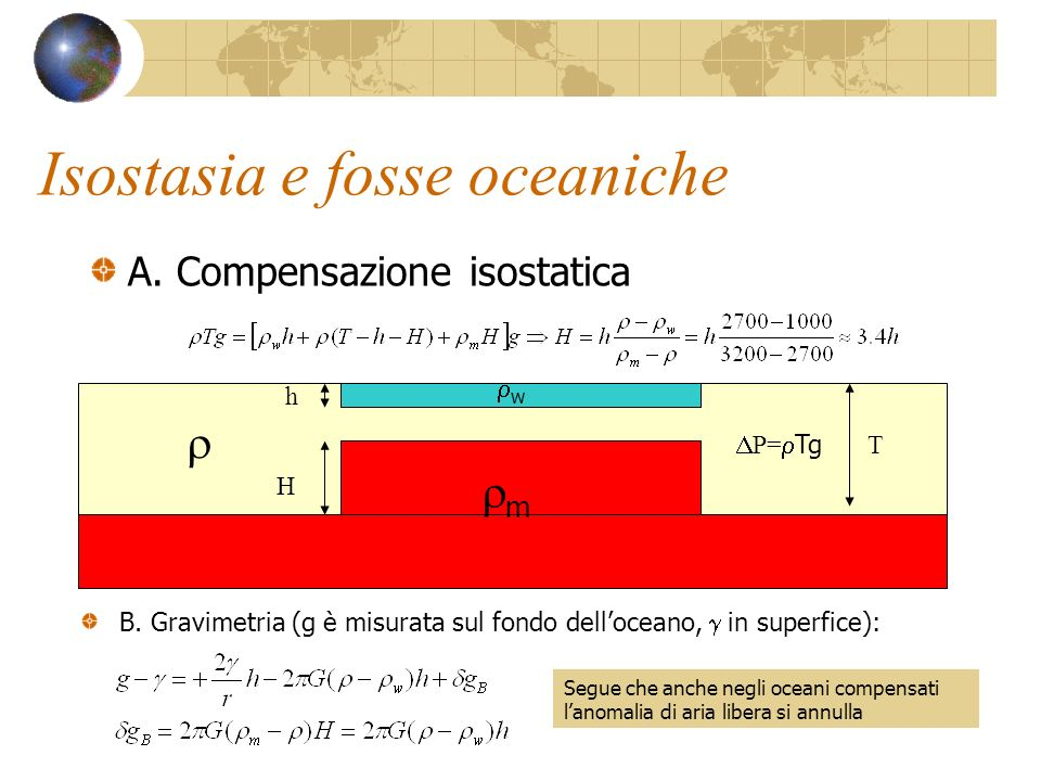 Isostasia e fosse oceaniche