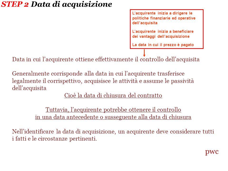 STEP 2 Data di acquisizione