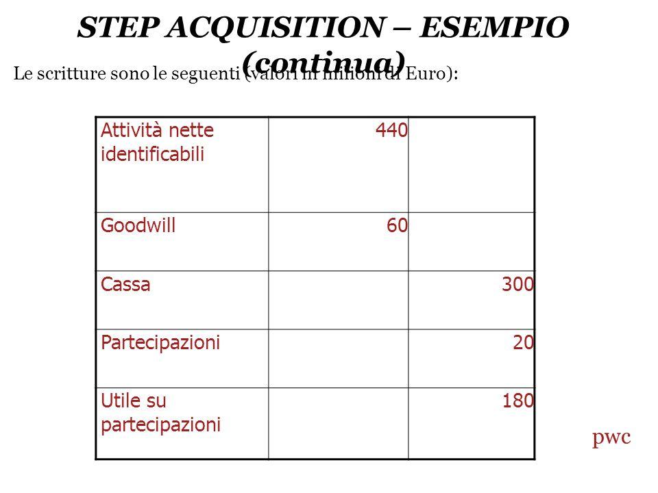 STEP ACQUISITION – ESEMPIO (continua)