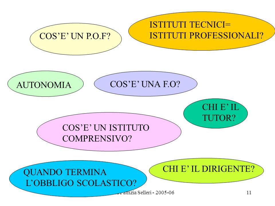 Prof.ssa Patrizia Selleri - 2005-06