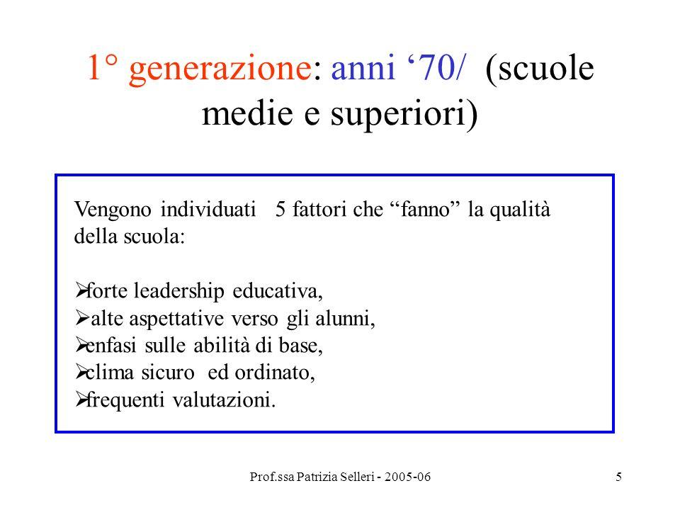1° generazione: anni '70/ (scuole medie e superiori)