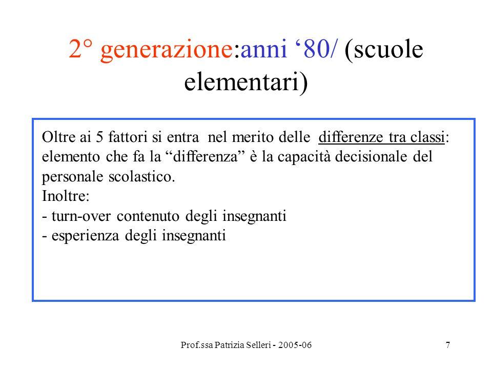 2° generazione:anni '80/ (scuole elementari)