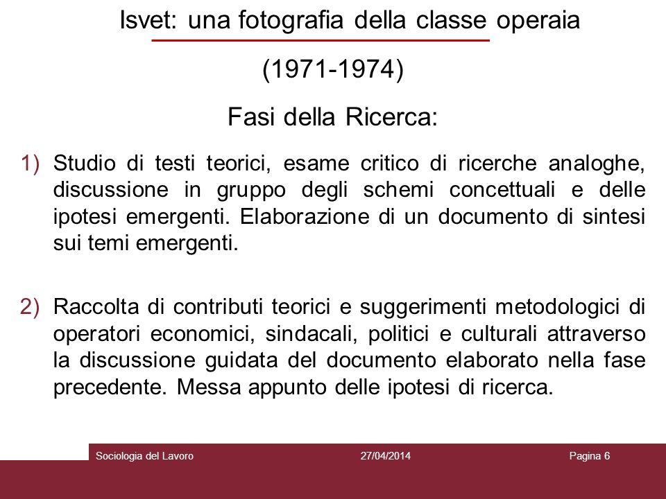 Isvet: una fotografia della classe operaia