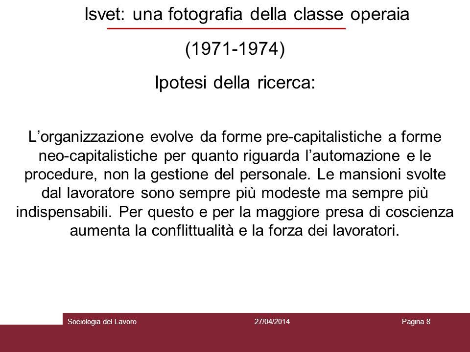 Isvet: una fotografia della classe operaia (1971-1974)