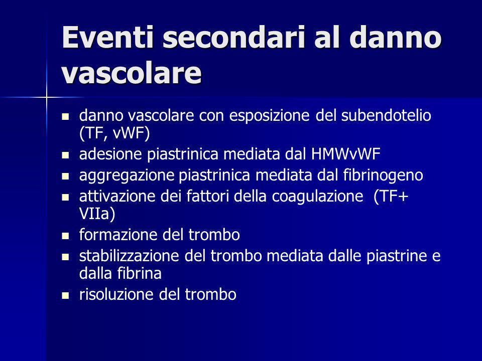 Eventi secondari al danno vascolare