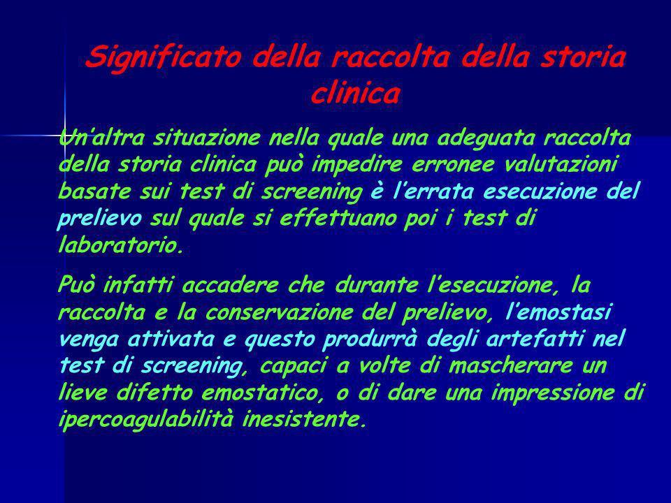 Significato della raccolta della storia clinica