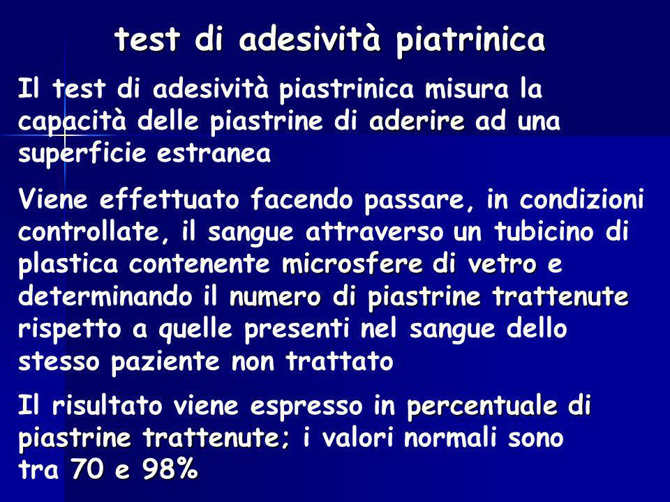 test di adesività piatrinica