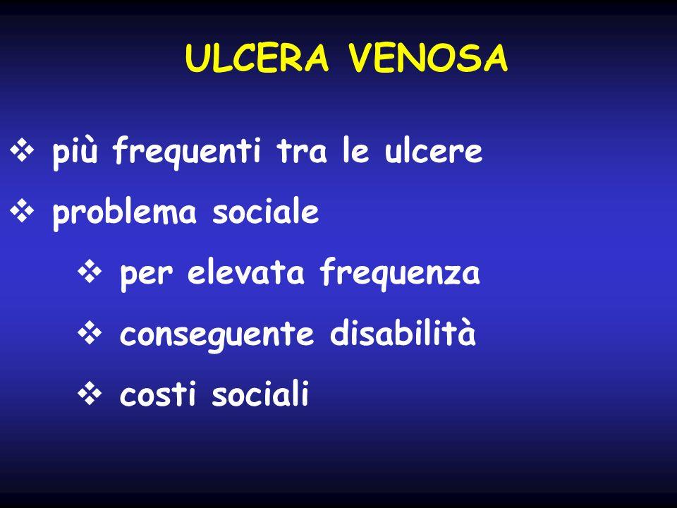 ULCERA VENOSA più frequenti tra le ulcere problema sociale