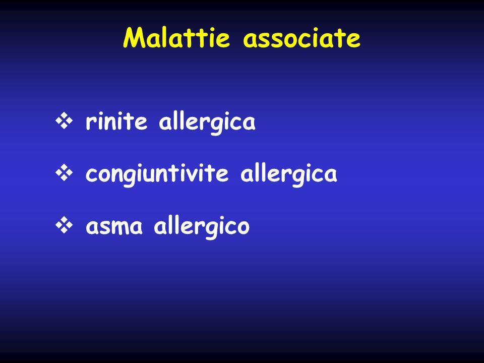 Malattie associate rinite allergica congiuntivite allergica