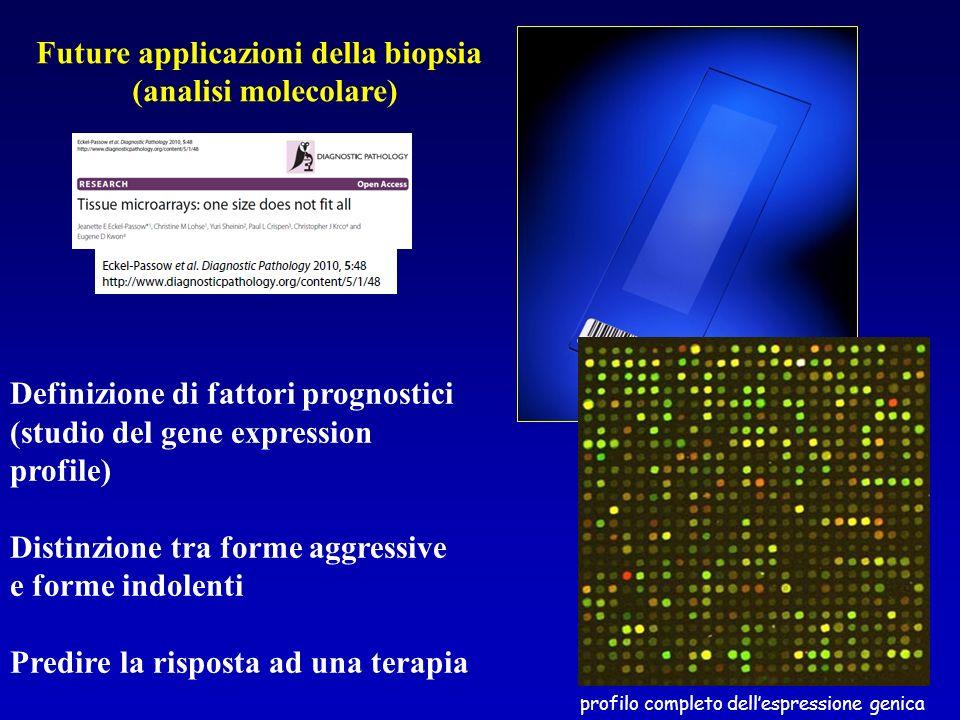 Future applicazioni della biopsia (analisi molecolare)
