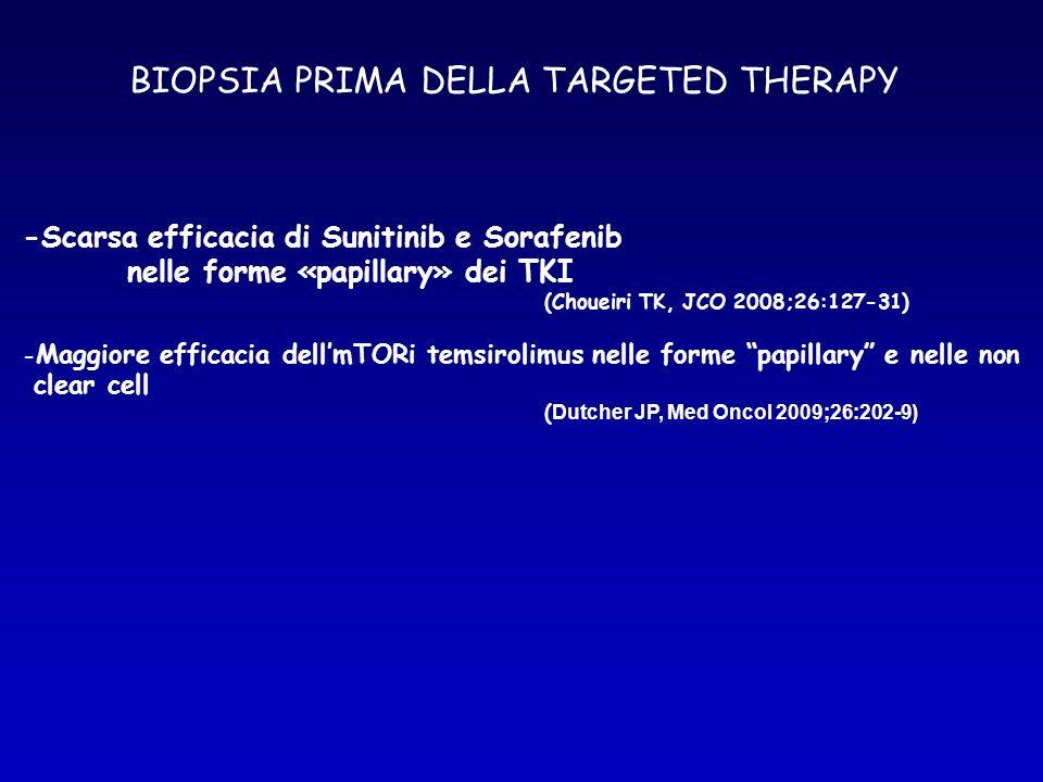 BIOPSIA PRIMA DELLA TARGETED THERAPY