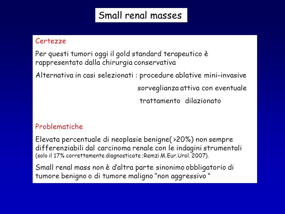 Small renal masses Certezze