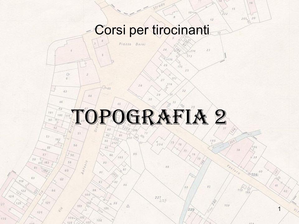 Corsi per tirocinanti TOPOGRAFIA 2