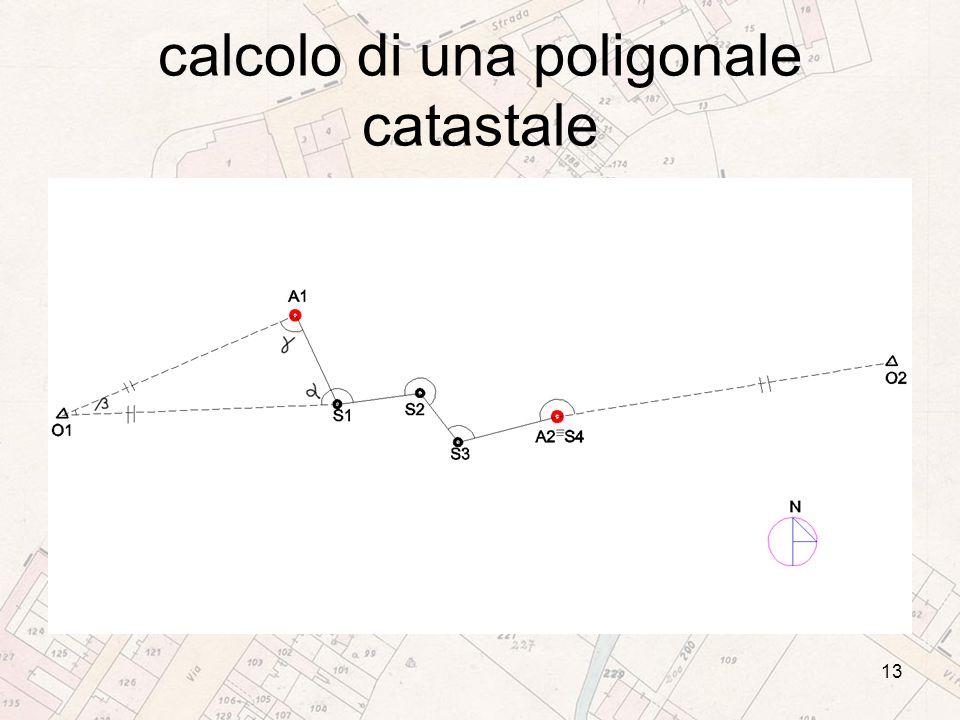 calcolo di una poligonale catastale