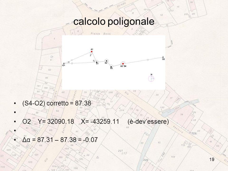 calcolo poligonale (S4-O2) corretto = 87.38