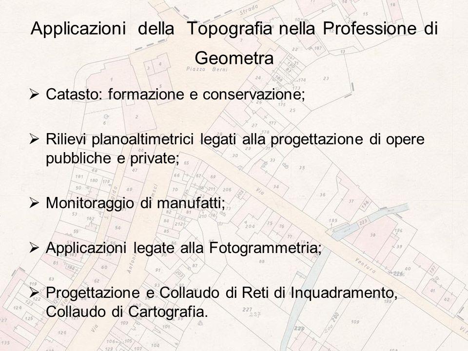 Applicazioni della Topografia nella Professione di Geometra
