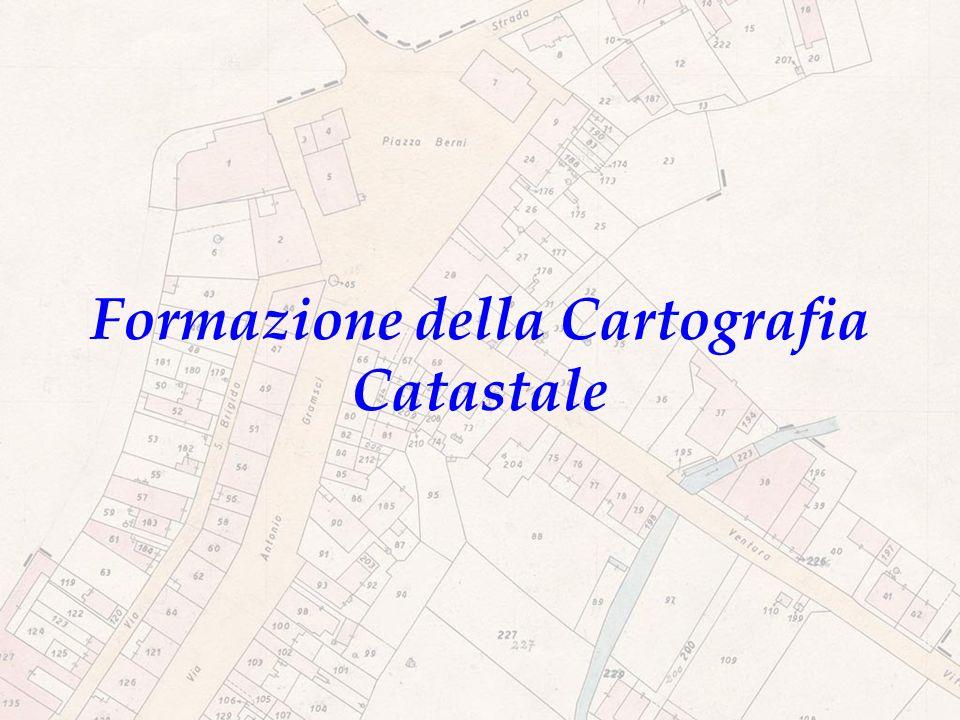 Formazione della Cartografia Catastale