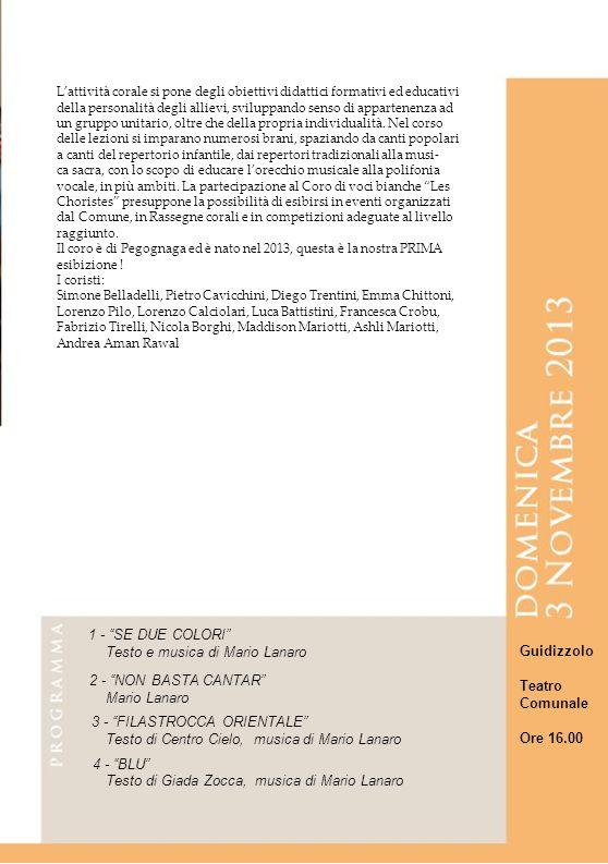 12 12 12 12 12 1 - SE DUE COLORI Testo e musica di Mario Lanaro