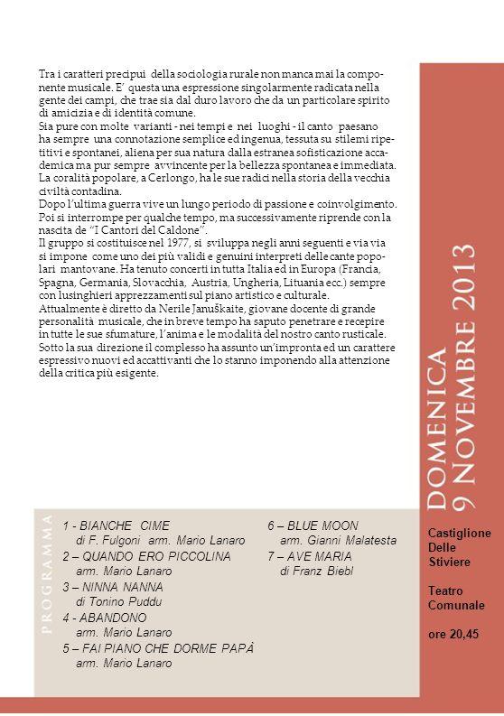 23 23 23 23 23 1 - BIANCHE CIME 6 – BLUE MOON Castiglione Delle