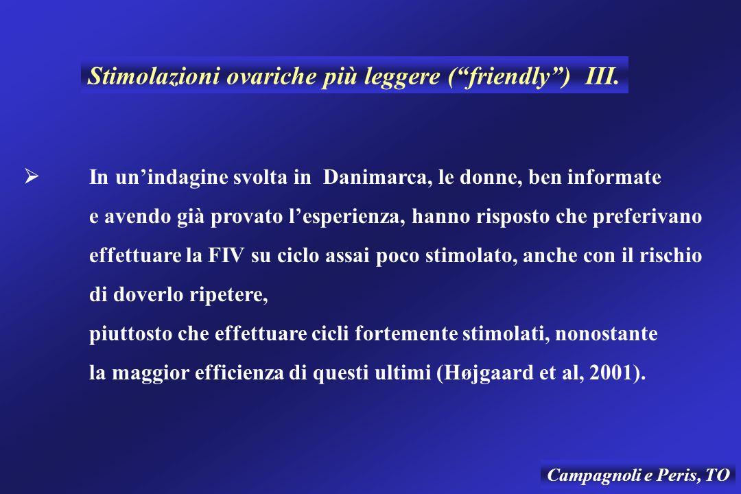 Stimolazioni ovariche più leggere ( friendly ) III.