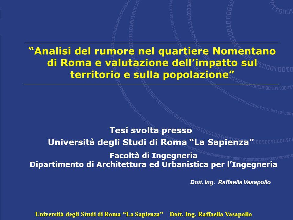 Università degli Studi di Roma La Sapienza Dott. Ing