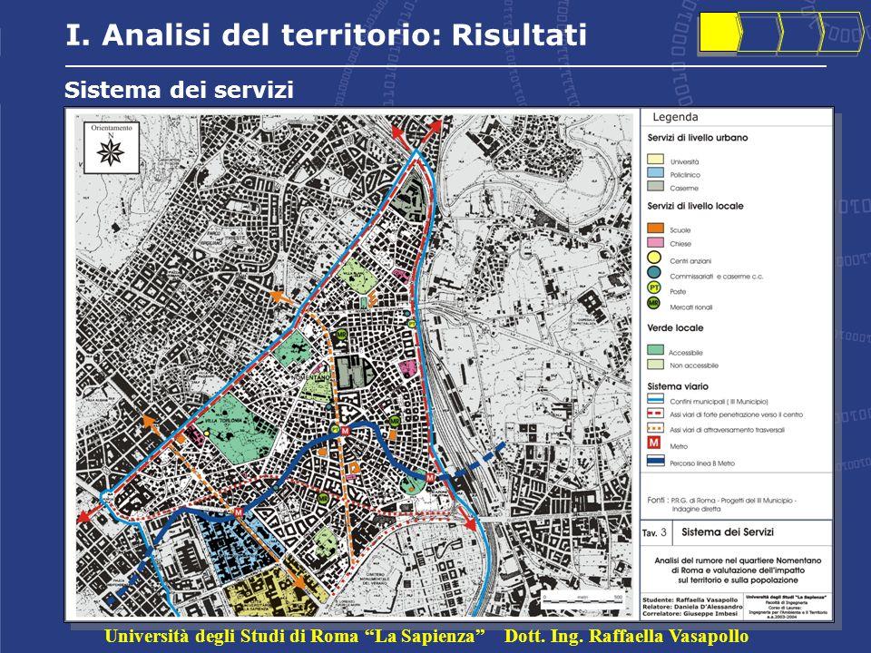 I. Analisi del territorio: Risultati