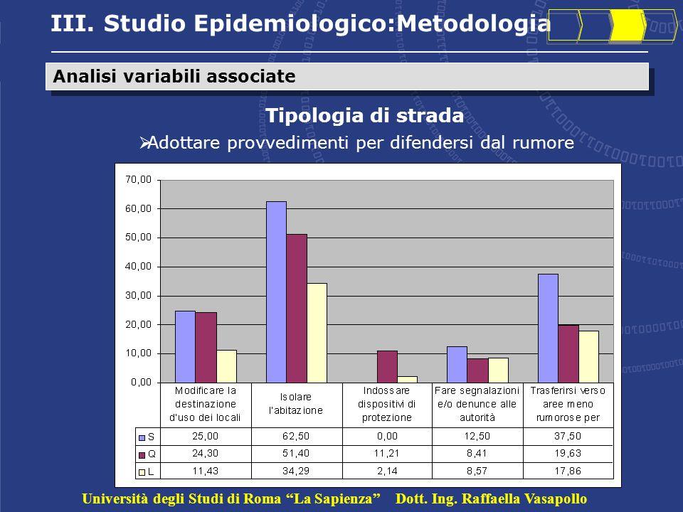 III. Studio Epidemiologico:Metodologia