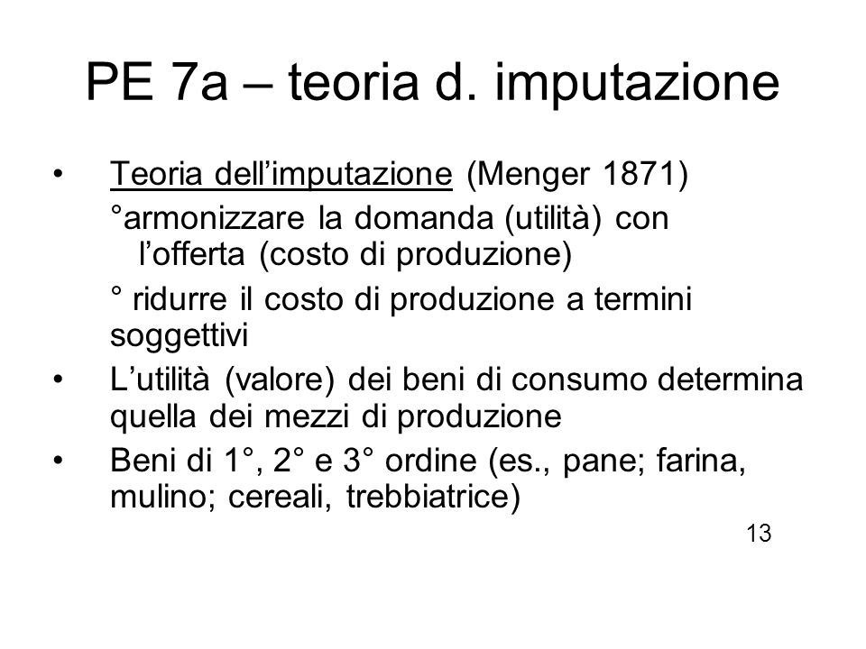 PE 7a – teoria d. imputazione