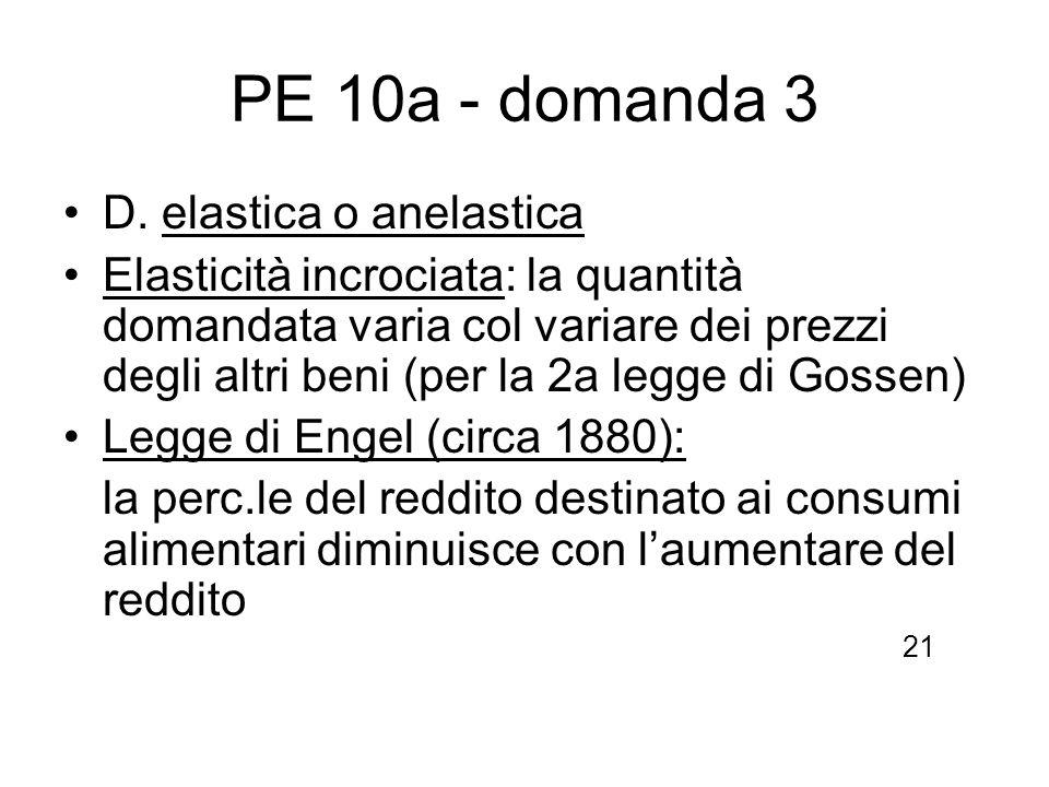 PE 10a - domanda 3 D. elastica o anelastica